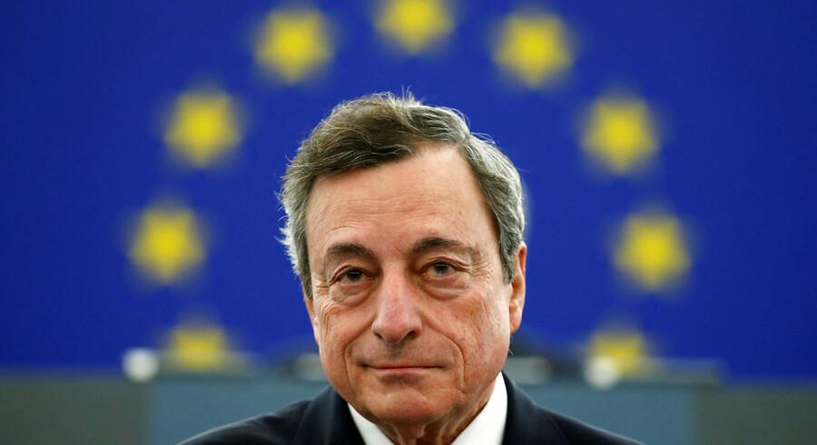 Dagens mand: ECB præsident Mario Draghi. Foto: Reuters/Vincent Kessler/Ritzau Scanpix