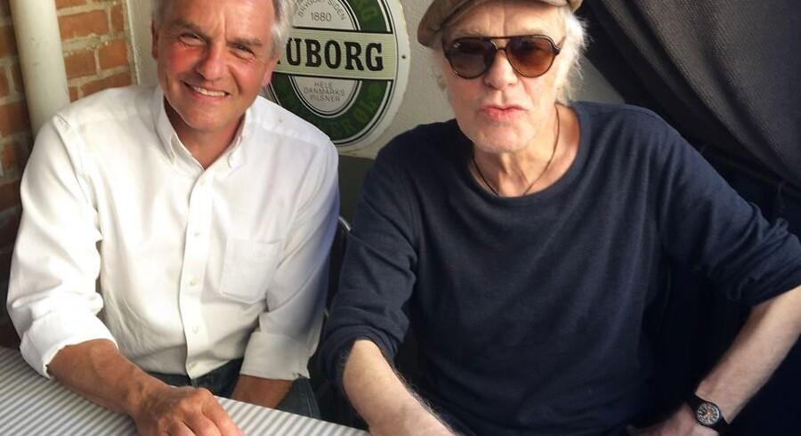 Kim Larsen og Jens Andersen nåede at mødes syv gange i Larsens hjem i Odense, før sangskriveren døde 30. september 2018.
