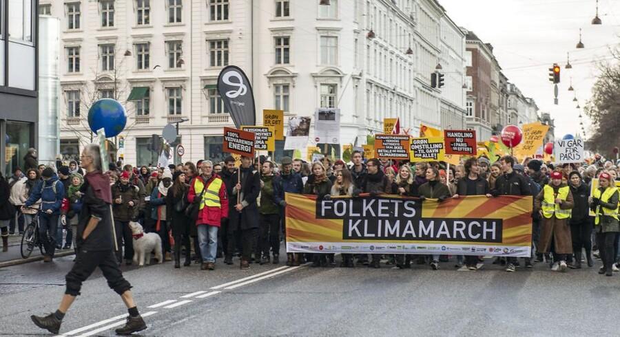 Klimademonstration i København søndag 29. november 2015 forud for COP21 i Paris. Arkivfoto.