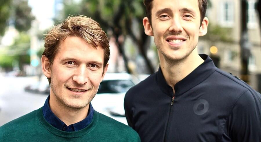 Matias Søndergaard (t.v.) og Jakob Baslev er stiftere af Rokoko og har med deres motion capture-dragt fået stor succes i film- og spilindustrien. Nu vil de også forsøge sig i sportsindustrien.