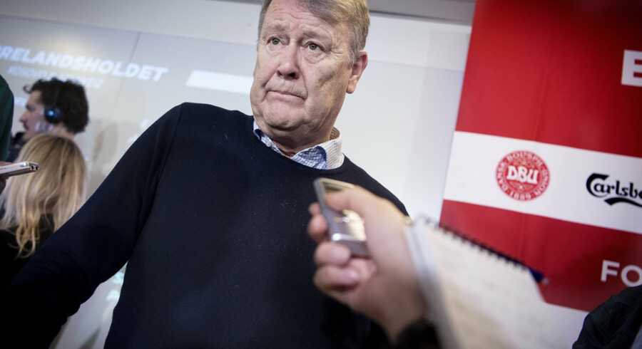 Åge Hareide udtog mandag landsholdet til de kommende to kampe. Liselotte Sabroe/Ritzau Scanpix