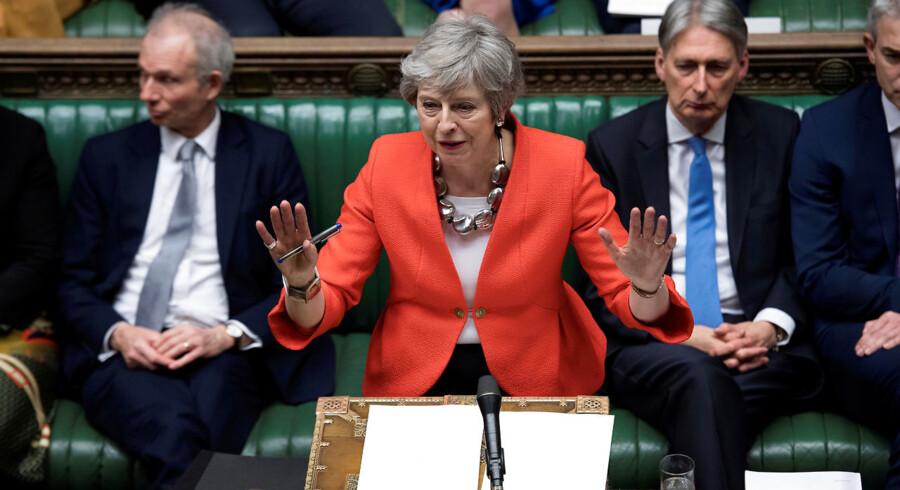 Theresa May fik igen stemt sin Brexit aftale ned tirsdag aften. Foto: Reuters/Jessica Taylor/Ritzau Scanpix