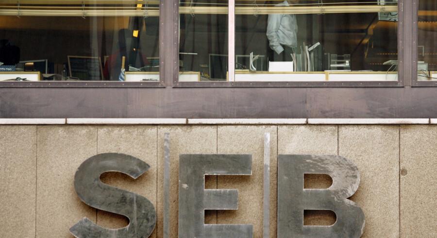 Det danske filial hos SEB Bank har fået fire påbud fra Finanstilsynet. Her ses et af bankens kontorer i Stockholm. © Bob Strong / Reuters/Reuters
