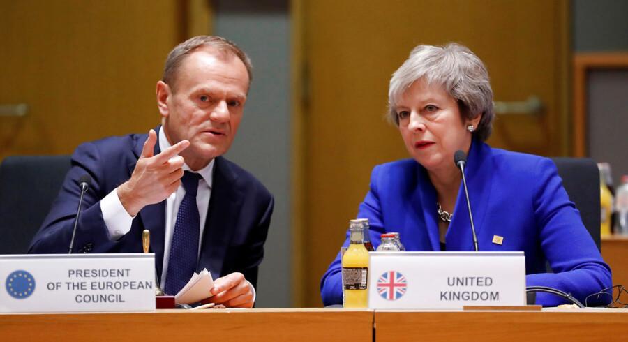 EU's præsident, Donald Tusk, siger, at de europæiske hovedstæder vil kunne bakke op om en langvarig udsættelse af brexit, hvis premierminister Theresa May ønsker det.