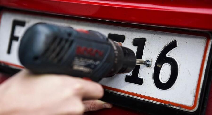 Dette syn kan mange billister blive mødt med, hvis de har ikke betalt motorafgifter.