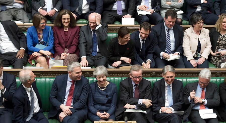 Det britiske parlament har i denne uge stemt om Brexit tre gange, og det fortsætter formentligt i næste uge. Foto: Jessica Taylor/EPA/Ritzau Scanpix