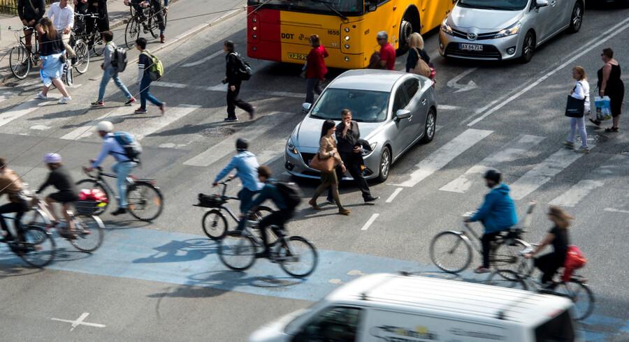 Trafik ved H.C Andersens Boulevard i Købehavn.