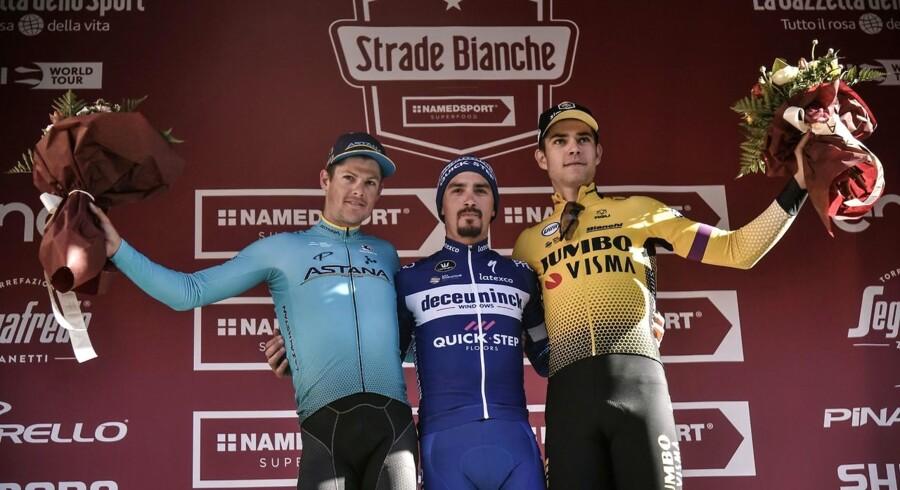 Jakob Fuglsang endte på en tredjeplads i etapeløbet Tirreno-Adriatico.
