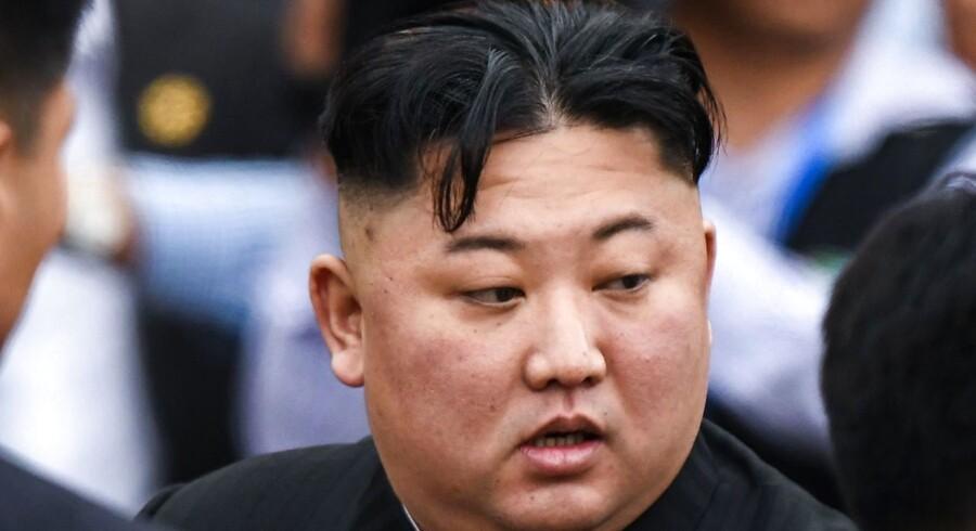 Foto af Nordkoreas leder, Kim Jong Un.