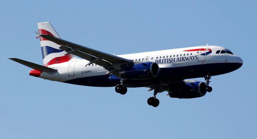 ARKIVFOTO af et fly fra British Airways.