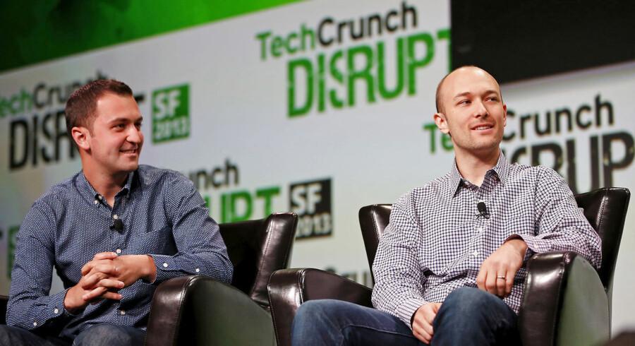 Logan Green (th.) og medstifteren John Zimmer etablerede kørselstjenesten Lyft i 2012 og har ofte ligget i intens konkurrence med den langt større rival Uber. Begge selskaber er blandt en stribe teknologibaserede selskaber, der i år går på børsen. Lyft bliver den første, og børsdebuten kan derfor blive toneangivende.