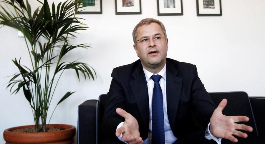 Søren Skou, topchef for Mærsk-koncernen, er foreslået til den finske telegigant Nokias bestyrelse. Arkivfoto: Luke MacGregor, Reuters/Ritzau Scanpix