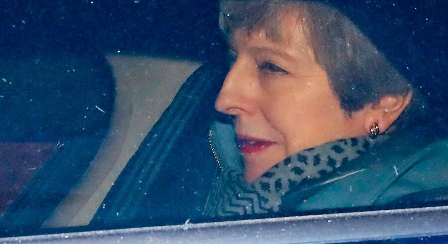 Theresa May har lovet at gå af som premierminister, hvis parlamentet stemmer hendes Brexit-aftale igennem. Foto: Tolga Akmen/AFP/Ritzau Scanpix
