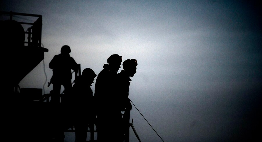 Alarmen gik på en olietanker, da falske GPS-signaler sendte skibets instrumenter på afveje. Det skete nær den ukrainske Krim-halvø, der blev annekteret af Rusland i 2014. Billedet er fra havnen i Sevastopol.