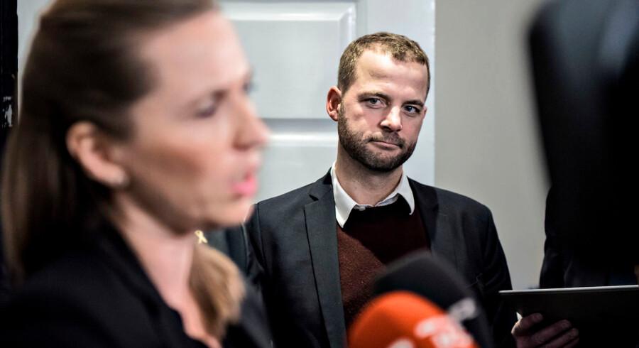 S-formand Mette Frederiksen tager ingen mandater for givet, siger hun. Heller ikke de Radikales: »Men jeg bliver nødt til at insistere på, at vi i Danmark skal føre den politik, der er den rette for vores samfund.« Arkivfoto: Ida Guldbæk Arentsen/Ritzau Scanpix