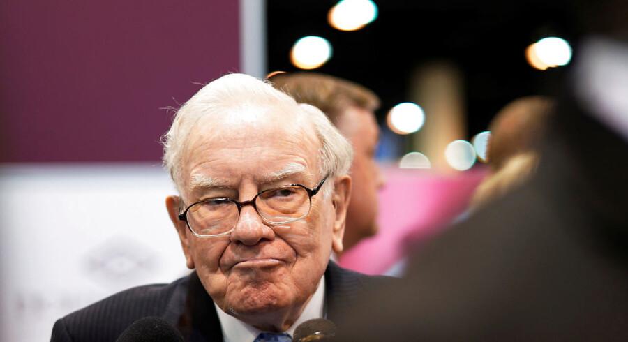 Investorguruen og multimilliardæren Warren Buffett mener, at det er blevet svært at købe virksomheder, fordi alle de virksomheder, han vurderer som kvalitetsbetonede, er blevet særdeles dyre. Arkivfoto: Rick Wilking/Reuters/Ritzau Scanpix