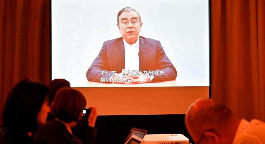 Den tidligere leder af alliancen bestående af Renault-Nissan-Mitsubishi Motors, Carlos Ghosn, har via en videooptagelse for første gang udtalt sig om svindelanklagerne mod ham.
