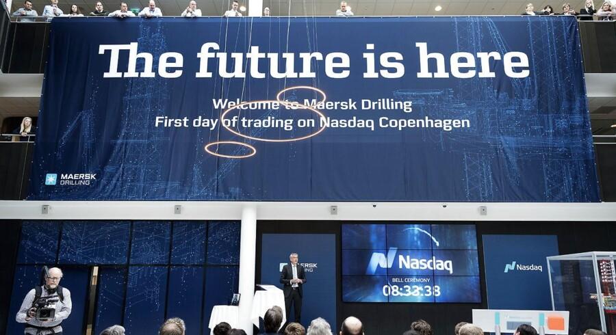 Maersk Drillings blev børsnoteret onsdag i sidste uge, men har allerede mistet ti procent af sin værdi. Foto: Claus Bech/Ritzau Scanpix