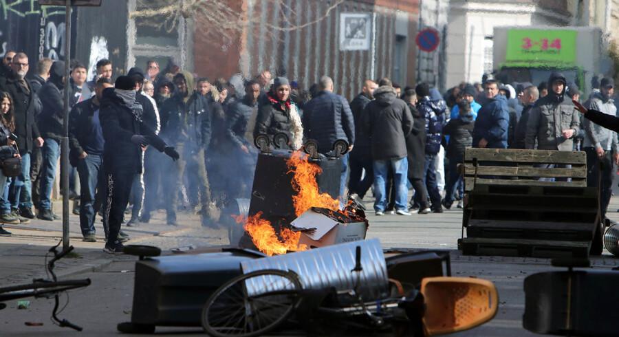 Uroligheder på Nørrebro i København, efter at den kontroversielle partistifter Rasmus Paludan har afholdt demonstration i området søndag den 14. april.