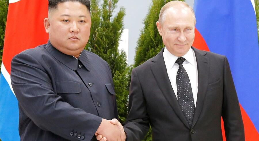 Vladimir Putin og Kim Jong-Un i Vladivostok.