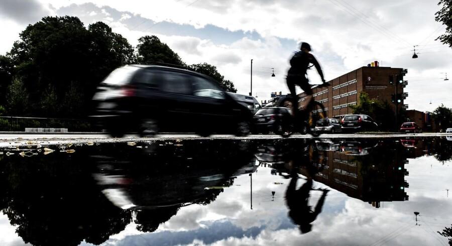 København efter voldsom regn. Arkivfoto.