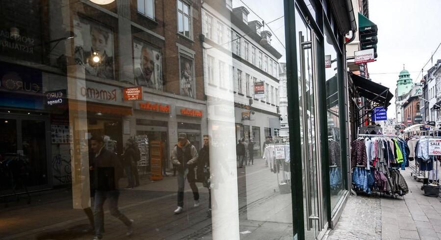 Butiksdøden har også ramt andre steder end i Gentofte. Her er det en lukket butik på Strøget i København.