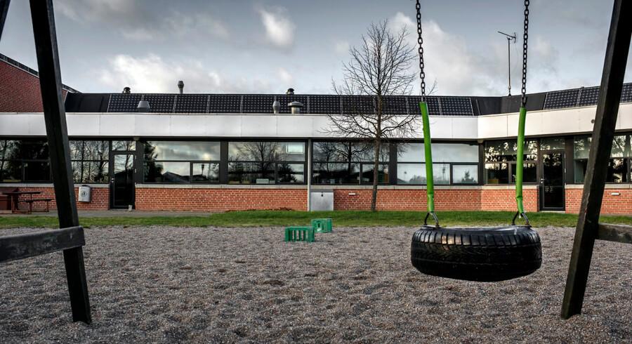 Sydskolen i Fårevejle var et af de bombemål, pigen fra Kundby havde udset sig.