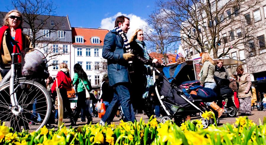 Ifølge OECD vokser den danske middelklasse og er blandt de største i Europa i forhold til befolkningen. Arkivfoto: Anders Birger Schjørring/Ritzau Scanpix