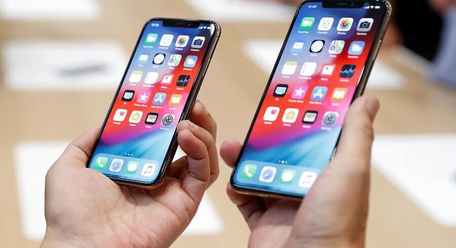 Apple har brugt teknologi i sine iPhones, som andre har rettighederne til, uden at afregne behørigt. Det erkender selskabet nu og gør skaden god igen med en kæmpe erstatning. Arkivfoto: Stephen Lam, Reuters/Ritzau Scanpix