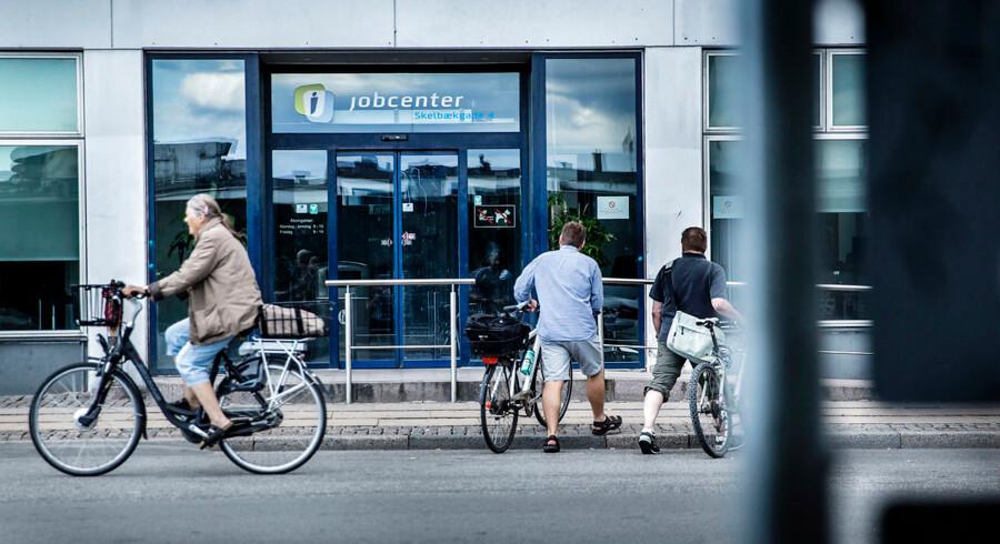 (ARKIV) Jobcentret i Skelbækgade, København V fotograferet den 14. august 2014. Færre står uden job, og ledigheden på det danske arbejdsmarked er på det laveste niveau siden 2009. Det skriver Ritzau, fredag den 28. september 2018.. (Foto: Thomas Lekfeldt/Ritzau Scanpix)