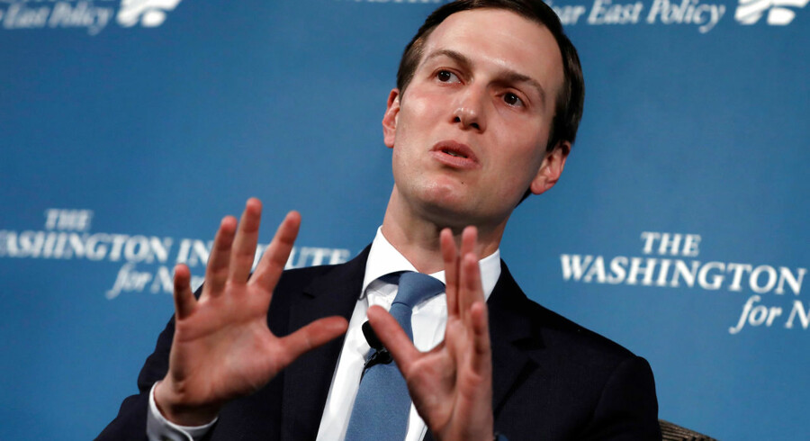 Trumps mellemøstforhandler Jared Kushner sagde i en tale ved Washington Institute for Near East Studies, at selve det at tale om en tostatsløsning var en hindring for fred i Mellemøsten.