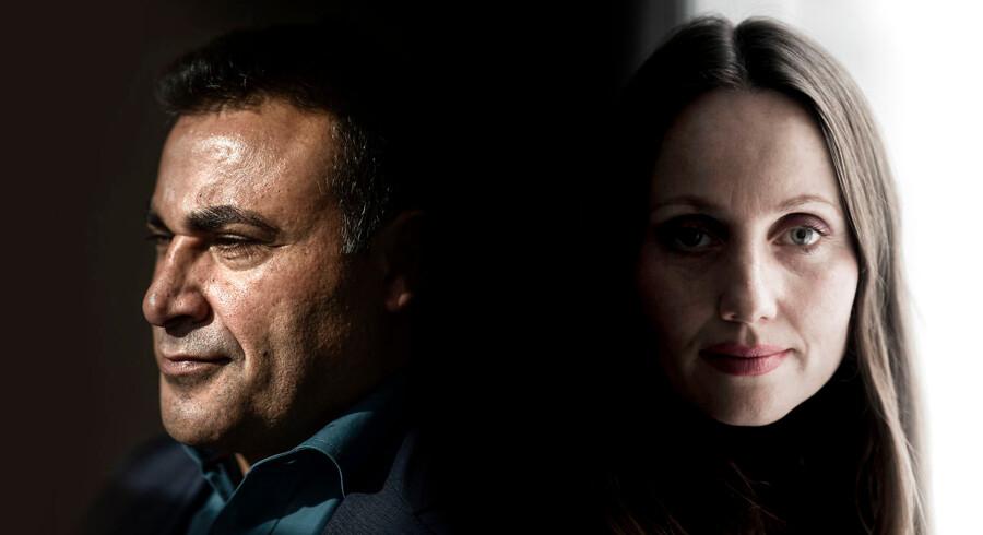 Fotocollage af Sherin Khankan og Naser Khader.