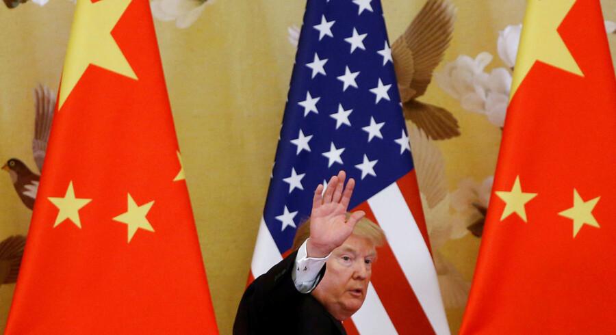 Trump har igen gjort markederne nervøse, efter han har hævet straftolden på kinesiske varer. Arkivfoto: Thomas Peter/Reuters/Ritzau Scanpix
