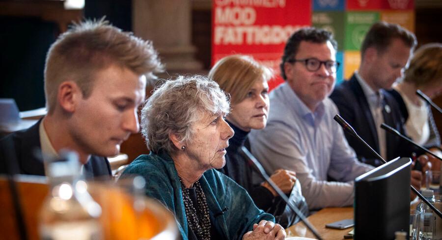 Ti spidskandidater til europaparlamentsvalget debatterede skattely på Christiansborg. Mere end halvdelen betragter emnet som en mærkesag. (Foto: Liselotte Sabroe/Ritzau Scanpix)