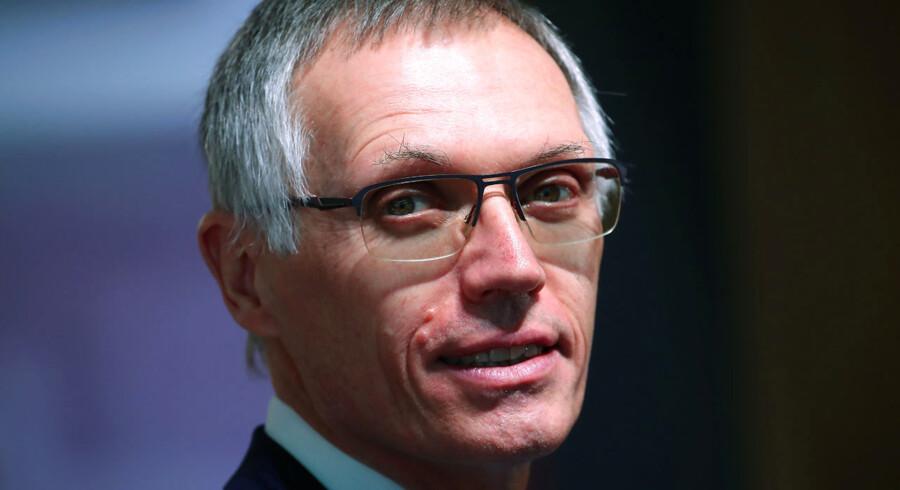 Portugiseren Carlos Tavares har fået et formidabelt ry som topchef for PSA Group, der omfatter Peugeot, Citroën, Vauxhall og Opel. Han omtales som en central skikkelse i de fusioner, alliancer og partnerskaber, der ventes at ryste op i den globale bilsektor i de kommende år. Her er han på bilmessen i Geneve i marts 2019. Arkivfoto: Denis Balibouse/Reuters/Ritzau Scanpix
