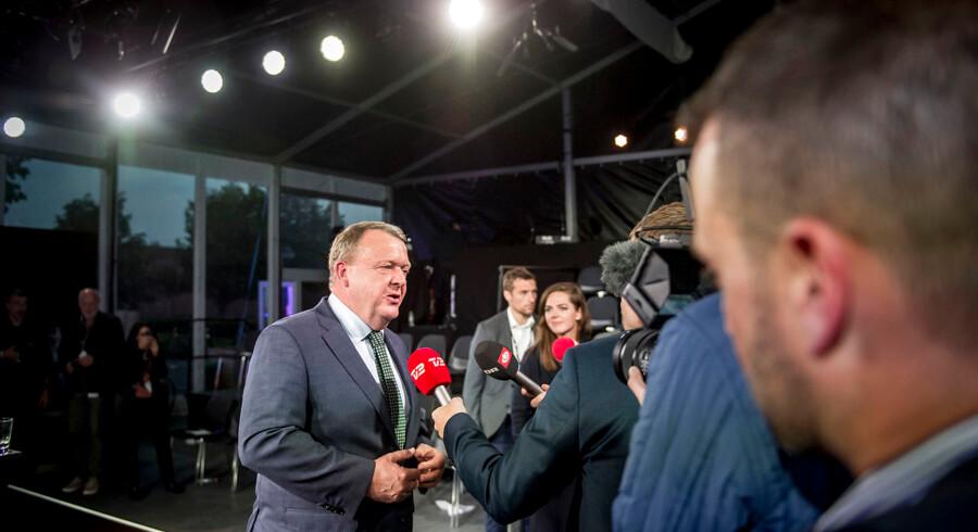Debat mellem de to partiledere og statsministerkandidater Mette Frederiksen (S) og Lars Løkke Rasmussen (V) søndag.