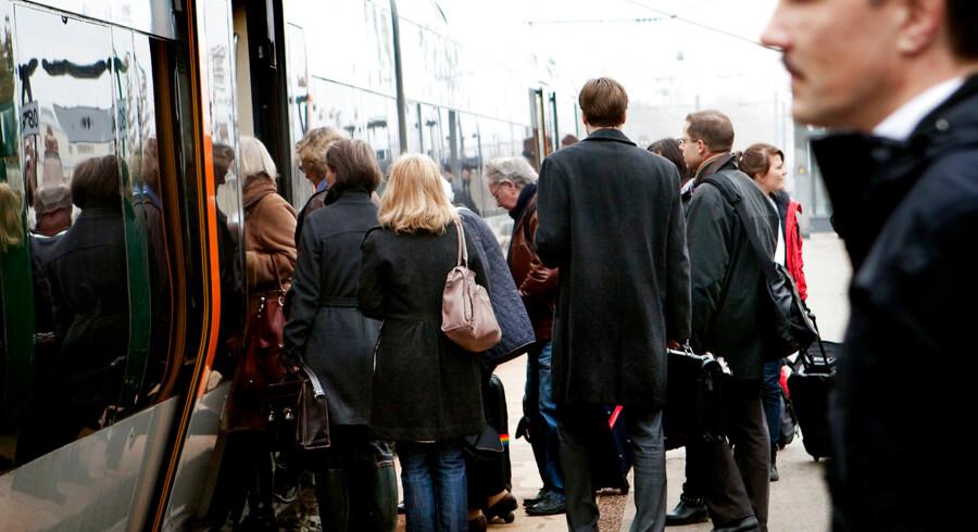 ARKIVFOTO 2010 af Kystbanen. Banedanmark vurderer, at det ikke er realistisk at gennemføre togtrafik, hvis strejker bliver en realitet.. (Foto: Linda Kastrup/Scanpix 2018)