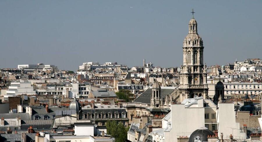 Et vue ud over de parisiske tage.