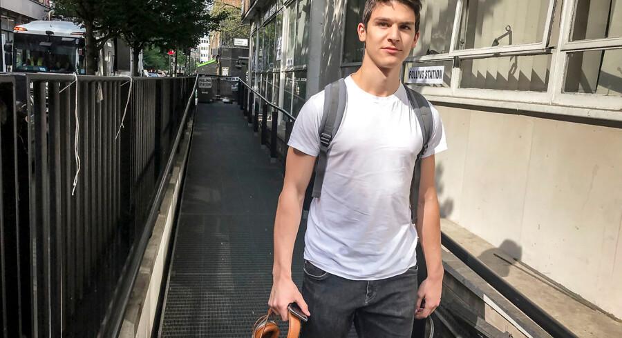 18-årige Lucca Matteucci er fransk statsborger, men valgte at stemme ved det britiske valg til Europa-Parlamentet.