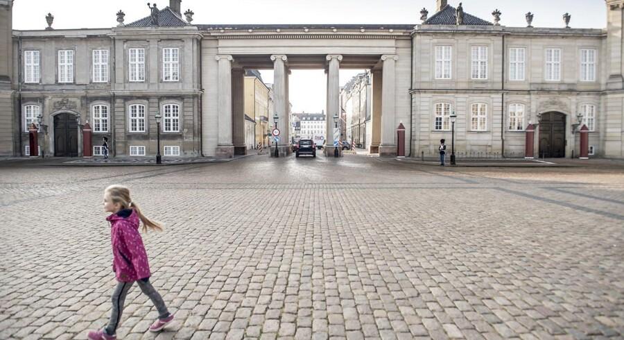 Amalienborg og slotspladsen set mod Amaliegade.