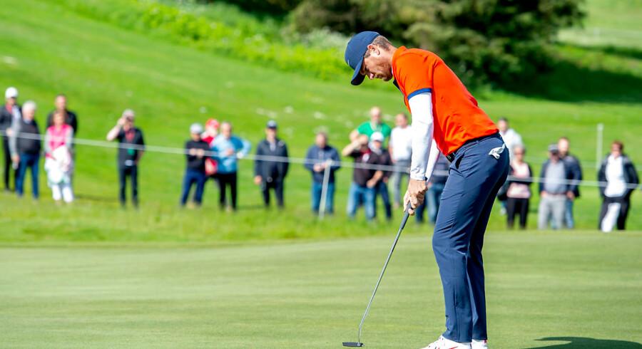 Golf er en mental balanceakt. Det ved alle golfspillere inklusiv Lucas Bjerregaard, der i øjeblikket spiller Made in Denmark på Himmerland Golf Klub. Foto: René Schütze/Ritzau Scanpix