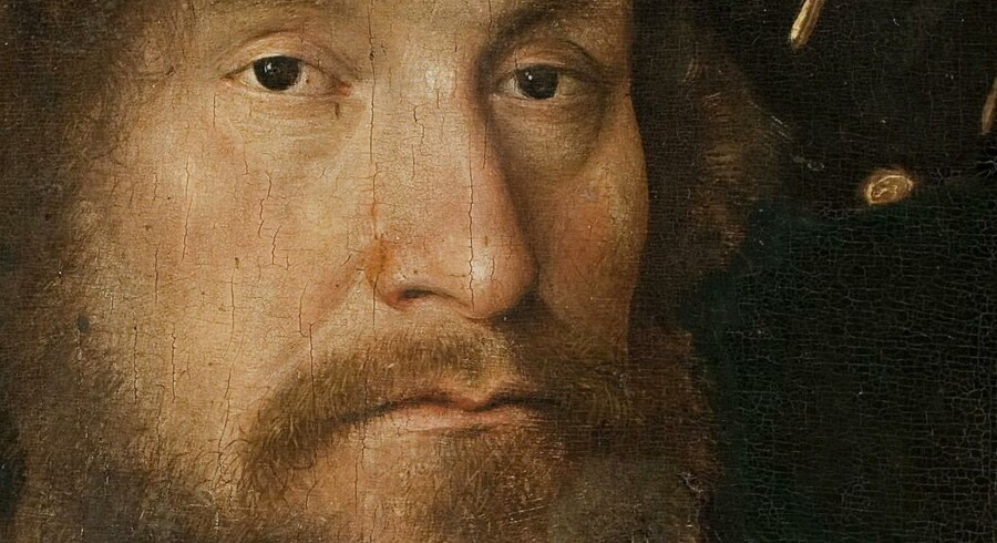 Christian 2. malet af Michel Sittow (1514-15). Man mener, at hans kommende hustru, Elisabeth, besad dette maleri før hendes ægteskab med den danske konge.Illustration fra bogen.
