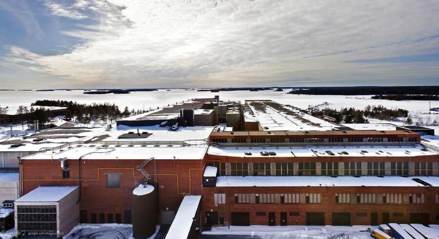 Google købte i 2009 en gammel papirmølle i Hamina af Stora Enso og byggede sit første datacenter. Nu får det følgeskab af et nyt til 600 millioner euro. Arkivfoto: EPA/Google/Ritzau Scanpix