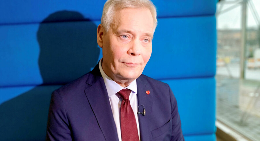 FILE PHOTO: Finnish Social Democratic Party leader Antti Rinne listens during an interview in Helsinki, Finland, April 9, 2019. REUTERS/Attila Cser/File Photo