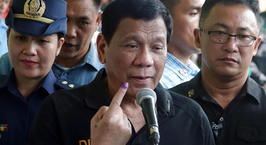Filippinernes præsident, Rodrigo Duterte.