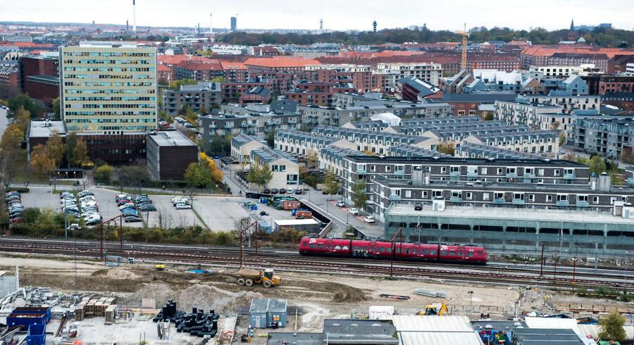 Arkivfoto: Billede fra Sydhavnen, hvor der også er gang i metrobyggeri. Hvis udvidelsen af metroen går planmæssigt, kommer metrolinjen til Sydhavnen til at åbne i 2024.