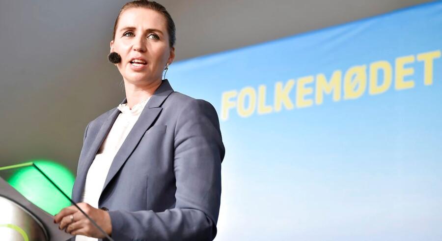Godhavnsdrengene blev lovet en officiel undskyldning, da Mette Frederiksen indtog Folkemødets hovedscene fredag eftermiddag.(Foto: Mads Claus Rasmussen/Scanpix 2019)
