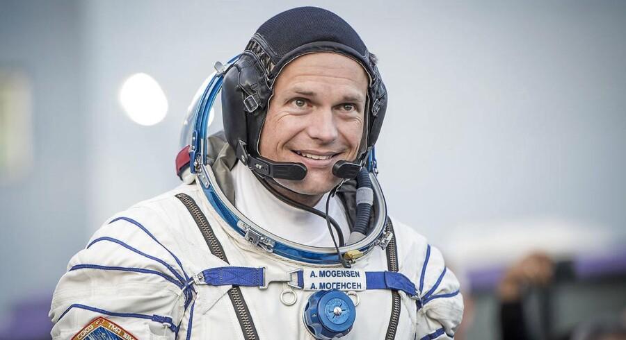 Andreas Mogensen kort før hans opsendelse til Den Internationale Rumstation i september 2015. Bliver han også den første dansker og måske endda europæer, der kommer til at rejse rundt om Månen?