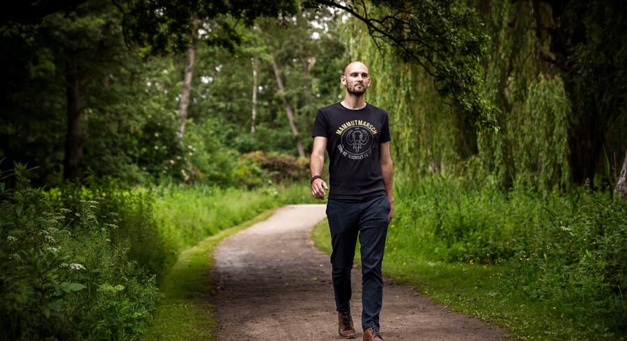 Kalle Eberhardt er initiativtager til Mammutmarch, som kommer til landet i august. Deltagerne skal gå 100 km på 24 timer. Foto: Thomas Lekfeldt/Ritzau Scanpix