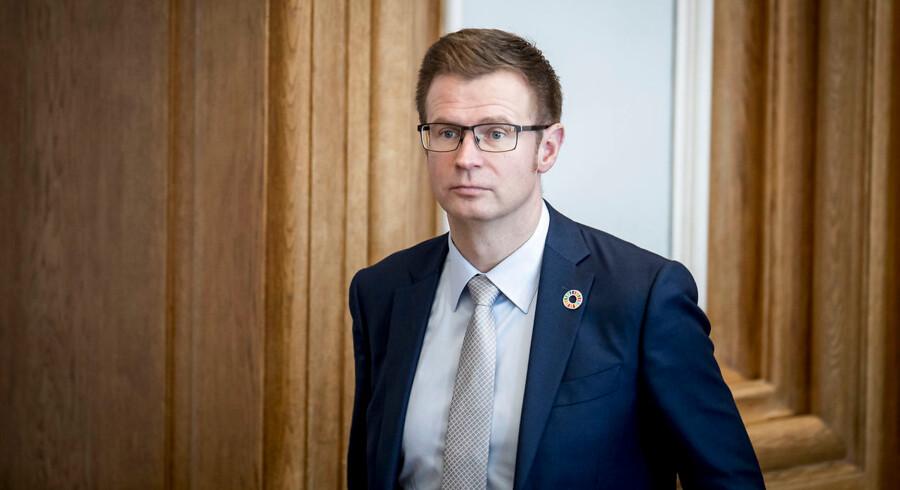 Benny Engelbrecht (S) under møde i Folketingssalen, hvor ministrene svarer på oversendte spørgsmål i ministrenes spørgetid på Christiansborg, onsdag den 27. februar 2019.. (Foto: Mads Claus Rasmussen/Ritzau Scanpix)